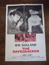 Safecracker, Original Movie Poster, Ray Milland, Barry Jones, '58